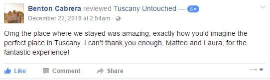Reviews of Tuscany Untouched