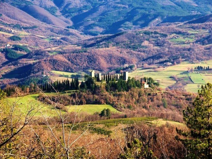 small mediaeval town of Poppi